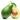 Aufgeschnittene Avocado mit Kern und Blatt auf weißem Hintergrund