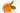 Orange Calendula Blüte mit Blättern