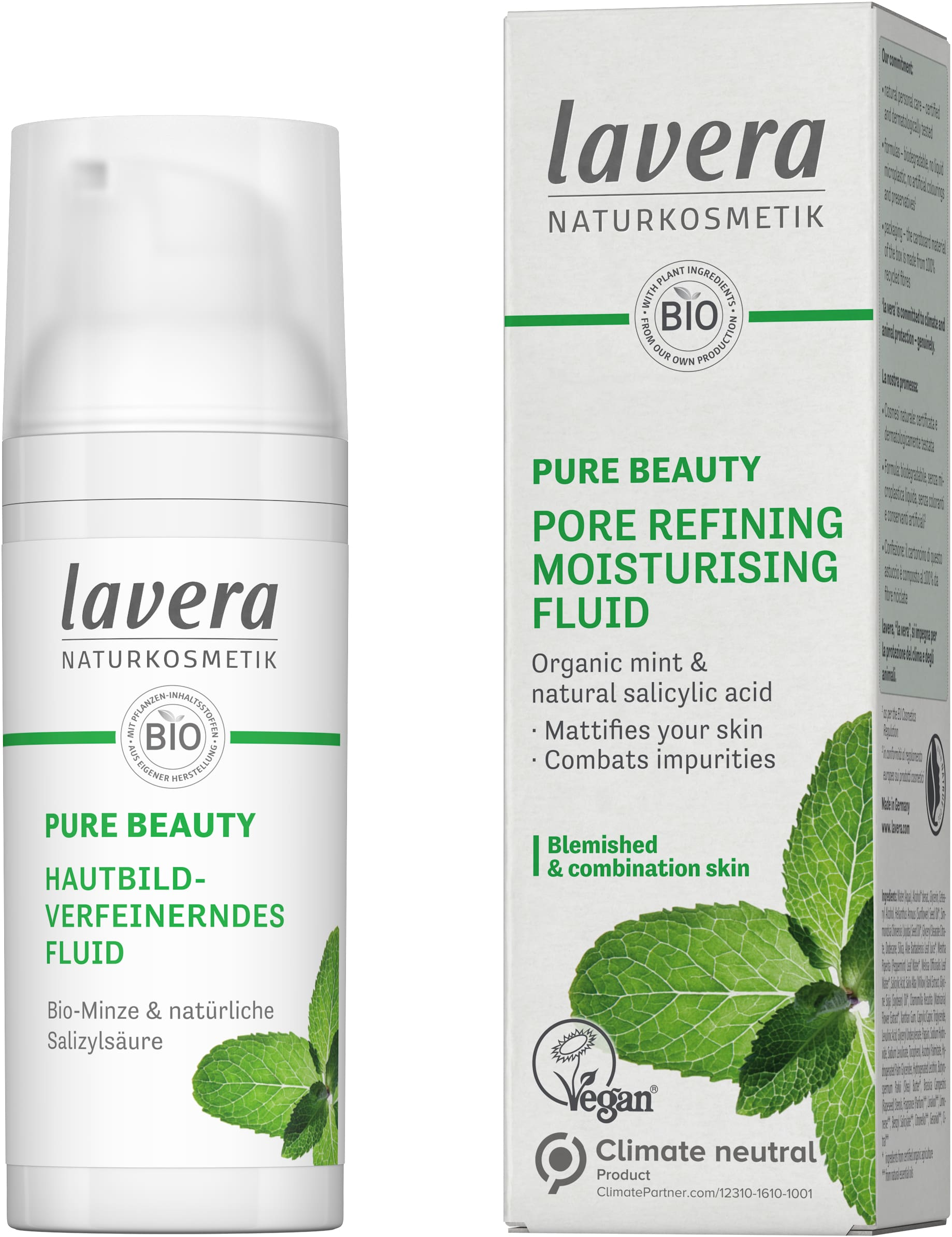 PURE BEAUTY Pore Refining Moisturising Fluid